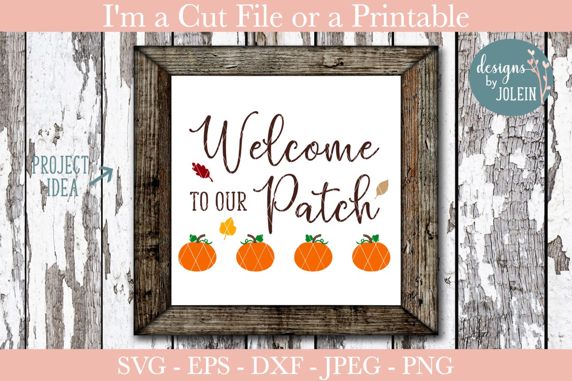Download Free Welcome To Our Patch Graphic By Designs By Jolein Creative Fabrica for Cricut Explore, Silhouette and other cutting machines.
