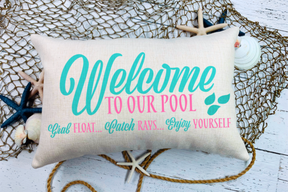 Welcome To Our Pool Svg Graphic By Morgan Day Designs Creative