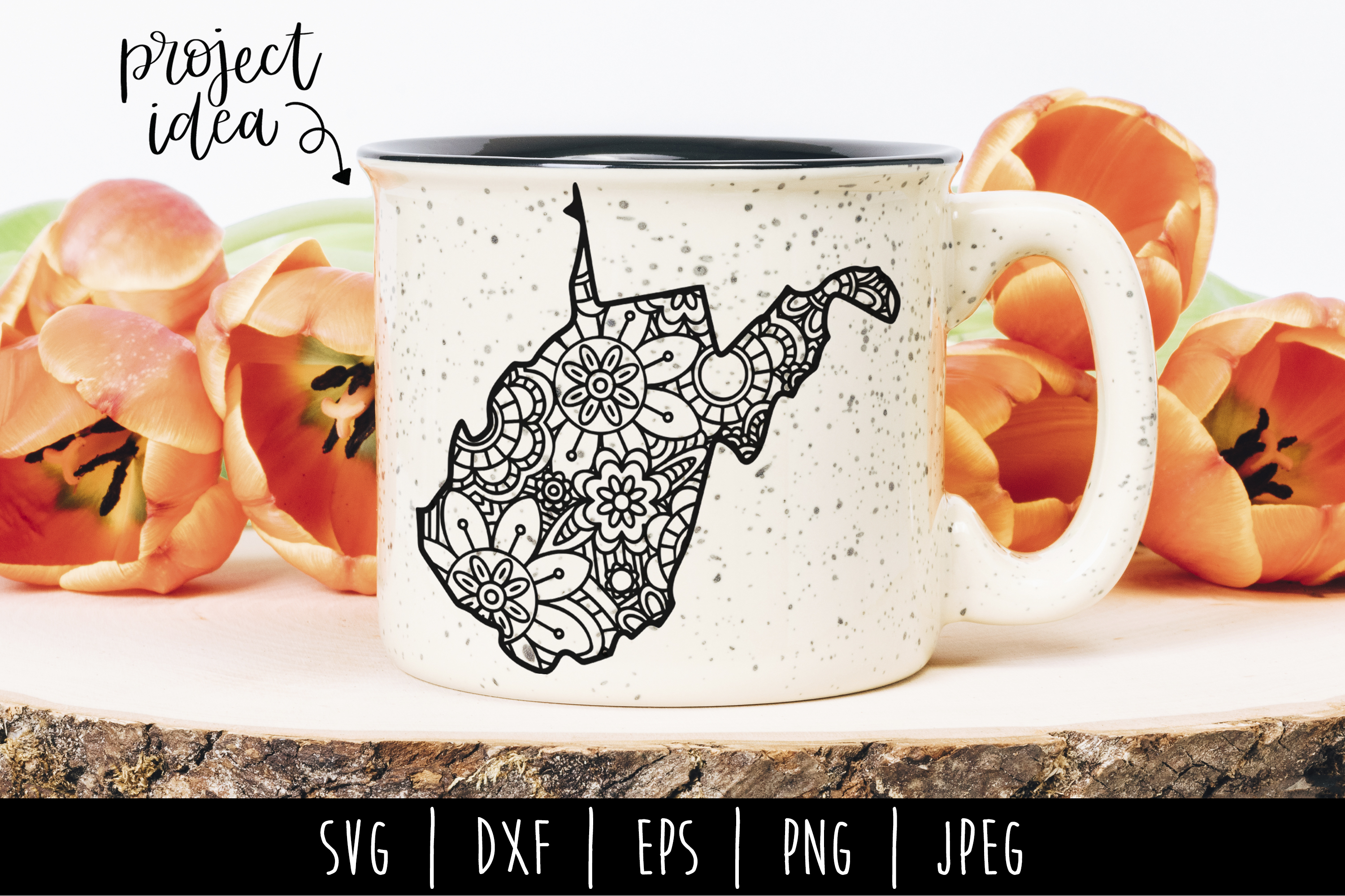 Download Free West Virginia State Mandala Zentangle Graphic By for Cricut Explore, Silhouette and other cutting machines.