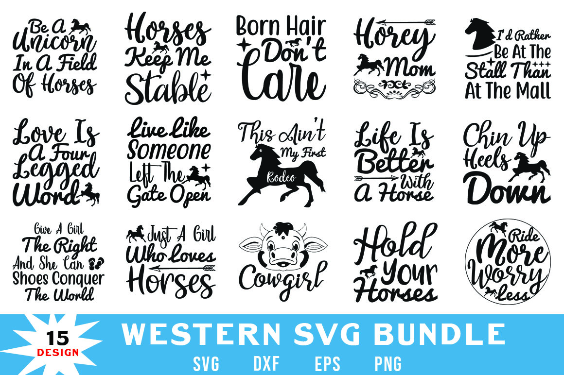 Download Free Western Quotes Bundle Graphic By Red Box Creative Fabrica for Cricut Explore, Silhouette and other cutting machines.