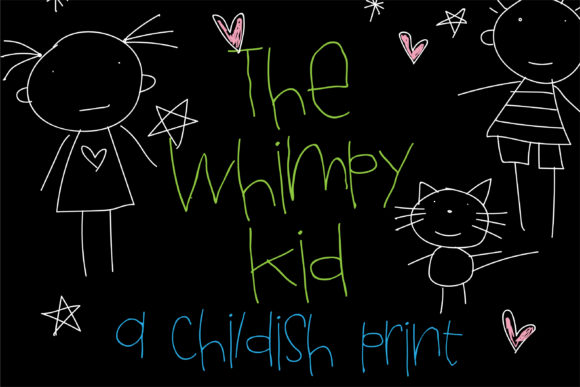 Print on Demand: The Whimpy Kid Script & Handwritten Font By Illustration Ink