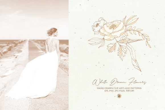 White Dream Flowers Graphic By webvilla Image 4