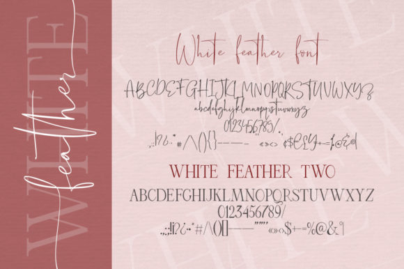 White Feather Duo Font By Red Ink Image 12
