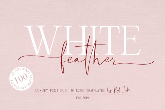 White Feather Duo Script & Handwritten Font By Red Ink