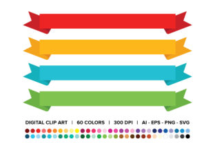 Wide Ribbon Banner Clip Art Set Graphic By Running With Foxes