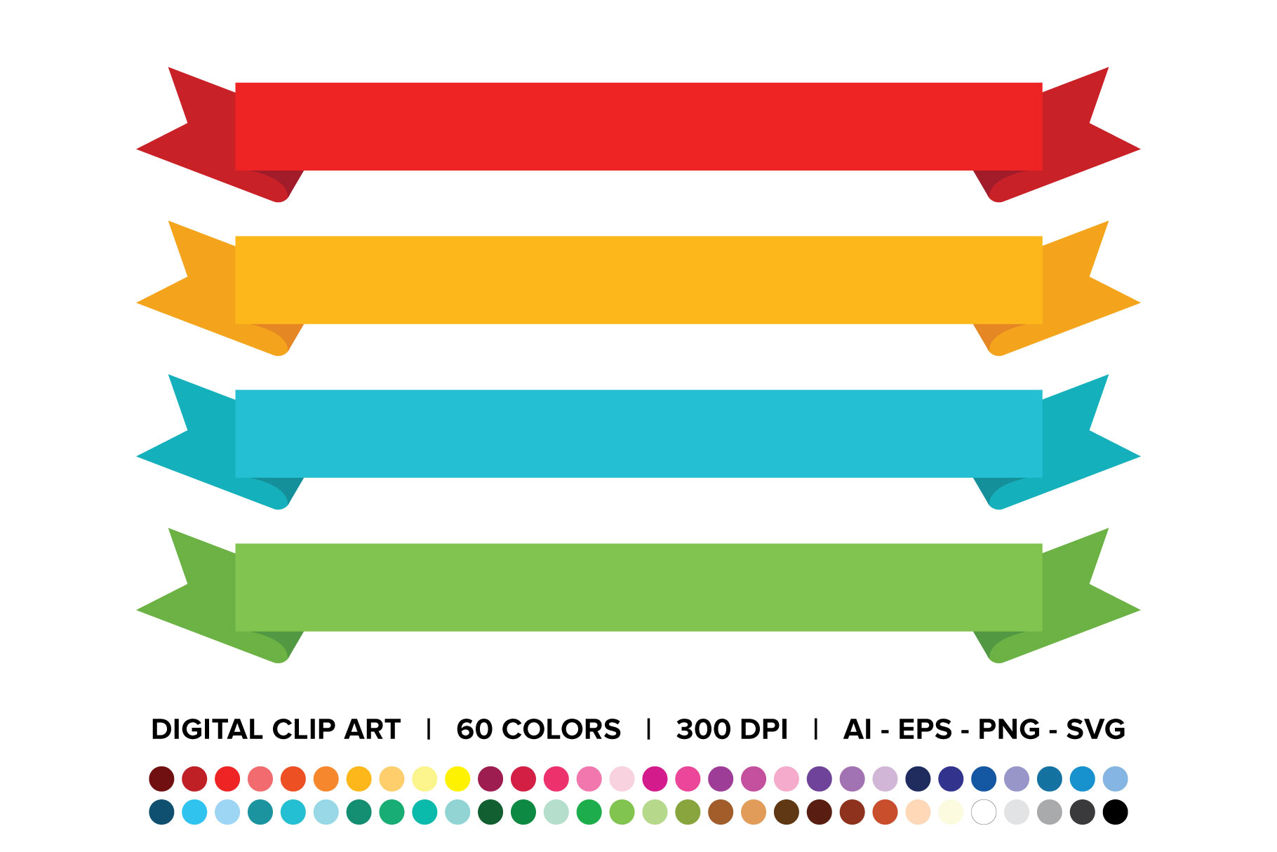 Download Free Wide Ribbon Banner Clip Art Set Graphic By Running With Foxes for Cricut Explore, Silhouette and other cutting machines.