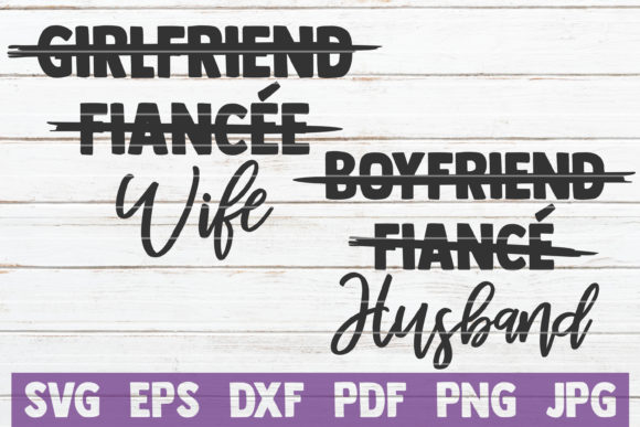 Download Free Wife Husband Cut Files Graphic By Mintymarshmallows Creative for Cricut Explore, Silhouette and other cutting machines.