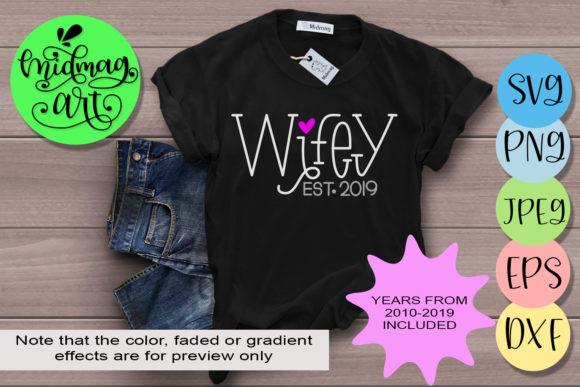 Wifey  Graphic Objects By MidmagArt