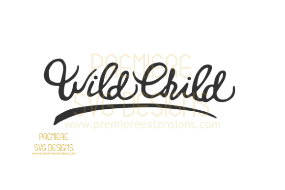 Print on Demand: Wild Child SVG Graphic Crafts By premiereextensions
