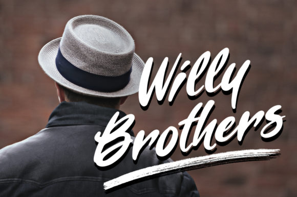 Willy Brothers Font By Cove703 Image 1
