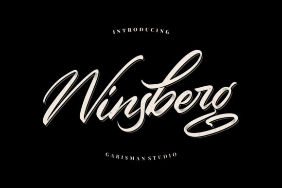Print on Demand: Winsberg Script & Handwritten Font By Garisman Studio