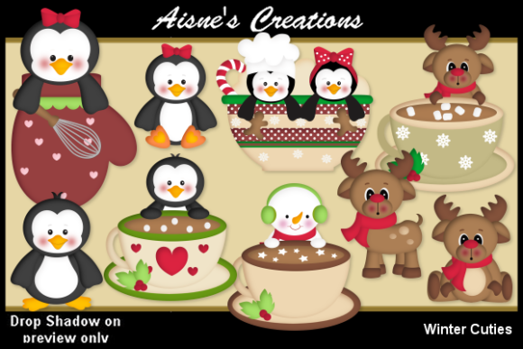 Print on Demand: Winter Cuties Graphic Illustrations By Aisne