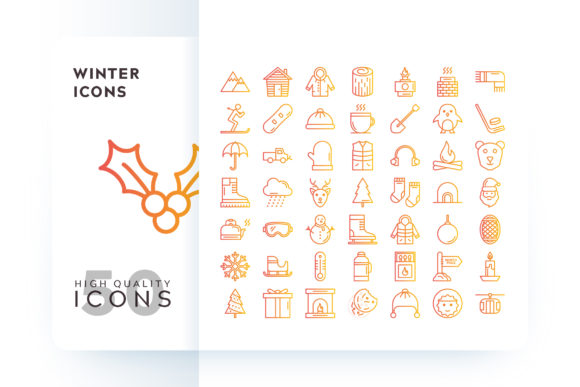 Winter Icons Graphic By Goodware.Std