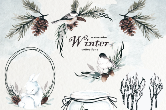 Print on Demand: Winter Watercolor Collection Graphic Illustrations By Typia Nesia - Image 2