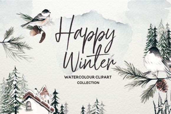 Download Free Winter Watercolor Collection Graphic By Typia Nesia Creative for Cricut Explore, Silhouette and other cutting machines.