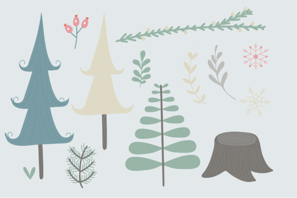 Print on Demand: Winter Woodland Graphic Illustrations By poppymoondesign - Image 3