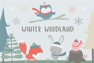 Winter Woodland Graphic By poppymoondesign