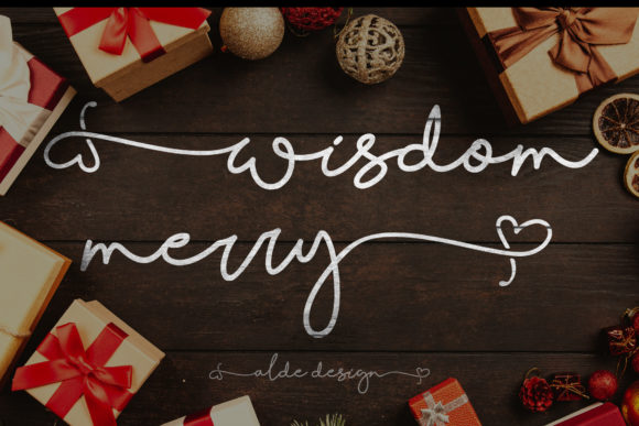 Print on Demand: Wisdom Merry Script & Handwritten Font By aldedesign