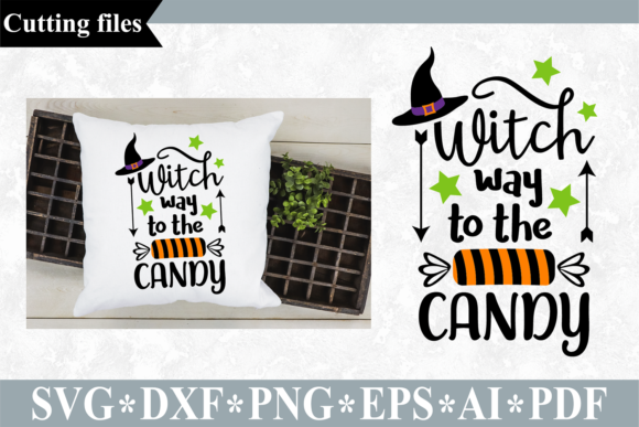 Download Free Witch Way To The Candy Svg Graphic By Vr Digital Design for Cricut Explore, Silhouette and other cutting machines.