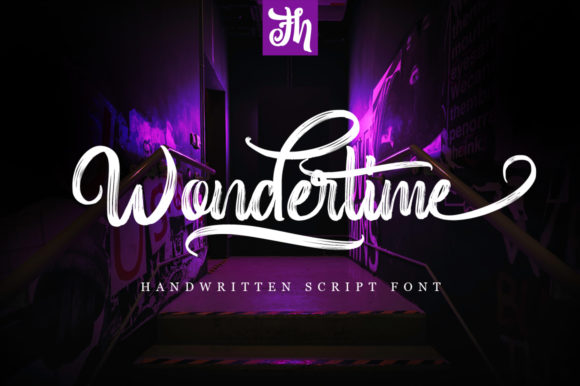 Print on Demand: Wondertime Script & Handwritten Font By feydesign