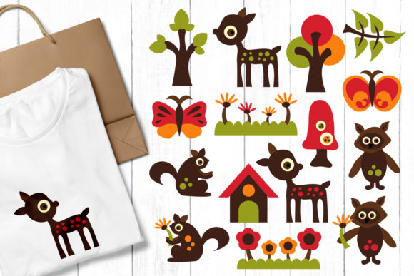 Print on Demand: Woodland Animals Graphic Illustrations By Revidevi