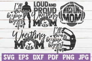 Wrestling Mom Bundle   Cut Files Graphic Graphic Templates By MintyMarshmallows