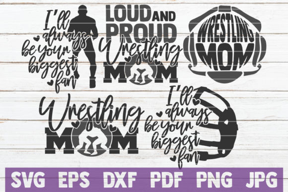 Wrestling Mom SVG Bundle | Cut Files Graphic Graphic Templates By MintyMarshmallows