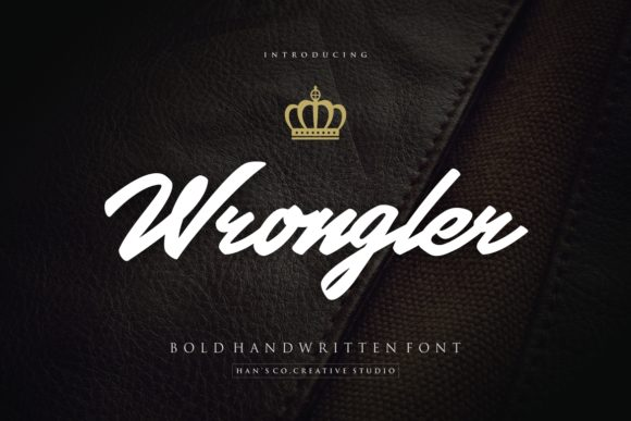 Print on Demand: Wrongler Script & Handwritten Font By HansCo