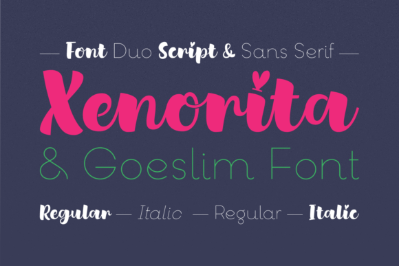 Print on Demand: Xenorita & Goeslim Duo Script & Handwritten Font By Situjuh