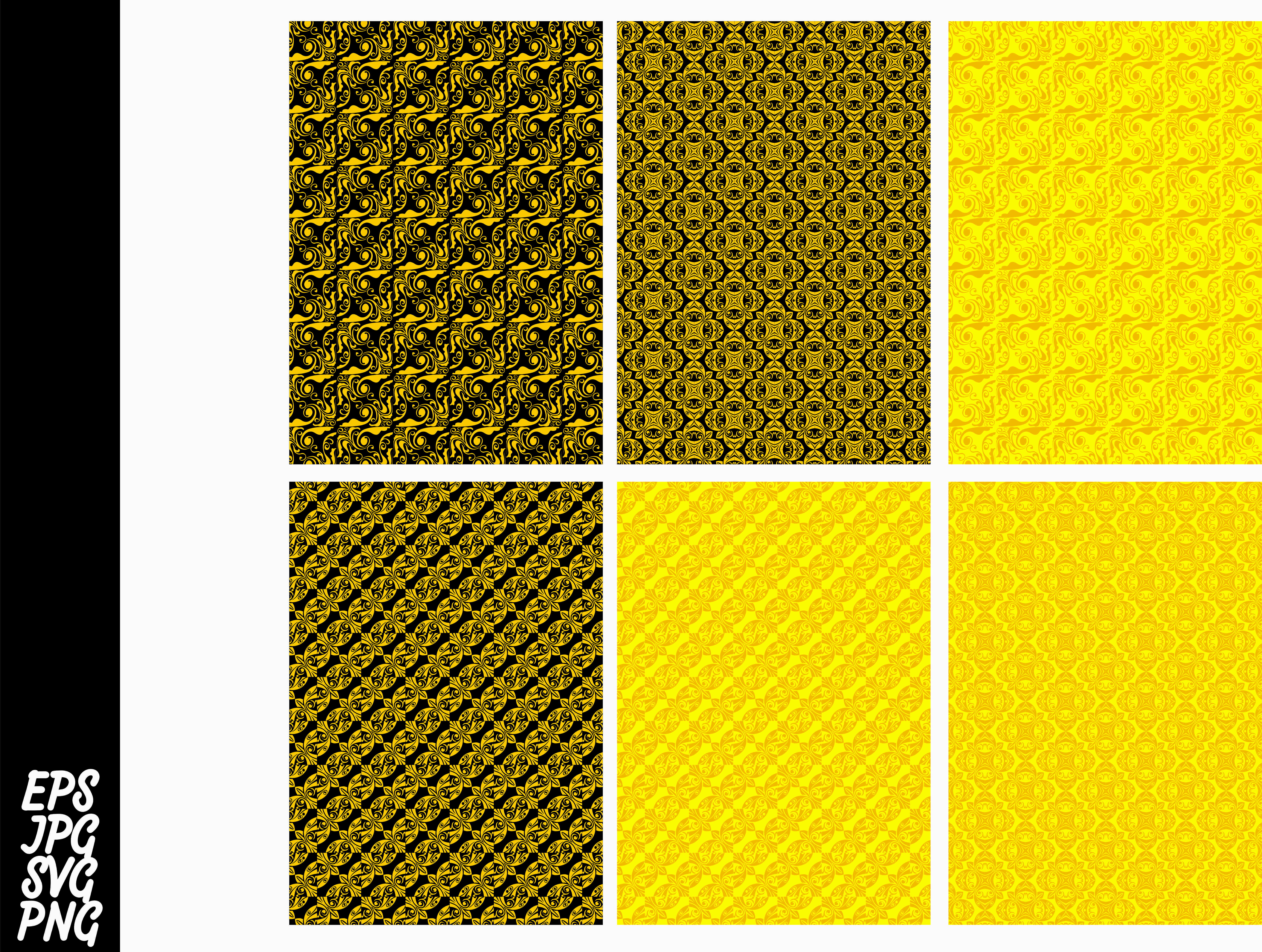 Download Free Yellow Ornament Pattern Svg Bundle Graphic By Arief Sapta Adjie for Cricut Explore, Silhouette and other cutting machines.