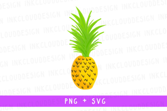 Yellow Pineapple Fresh Red Apple Fruit Graphic By Inkclouddesign