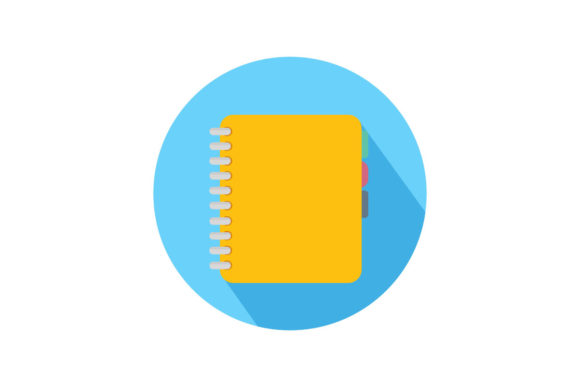 Yellow Notes Flatt Icon Graphic By Home Sweet