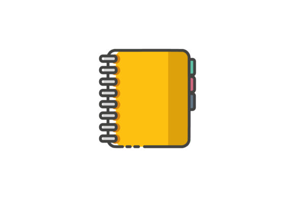 Yellow Notes  Line Icon Graphic By Home Sweet