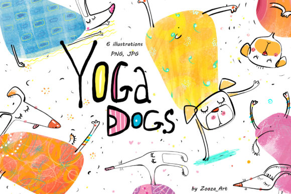 Print on Demand: Yoga Dogs Graphic Illustrations By Zooza Art