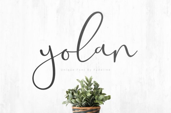 Print on Demand: Yolan Script & Handwritten Font By FadeLine
