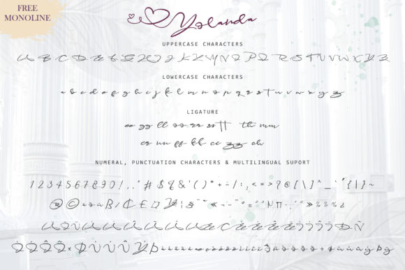 Print on Demand: Yolanda Script & Handwritten Font By thomasaradea - Image 6