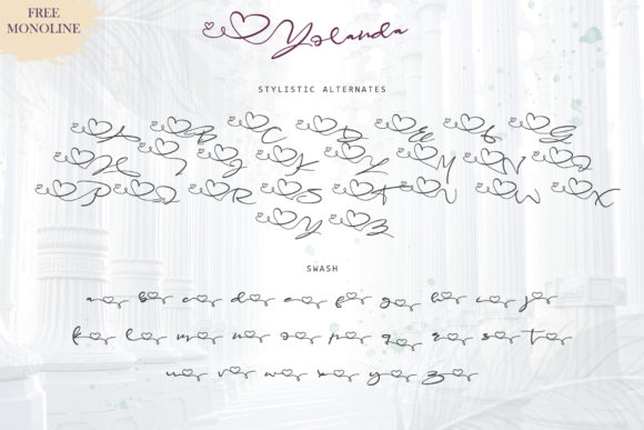 Print on Demand: Yolanda Script & Handwritten Font By thomasaradea - Image 7