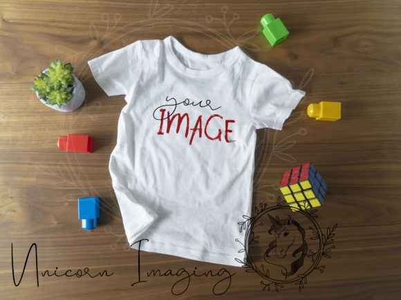 Youth T-shirt Mockup for Autism Awarenes Graphic Business By Unicorn Imaging
