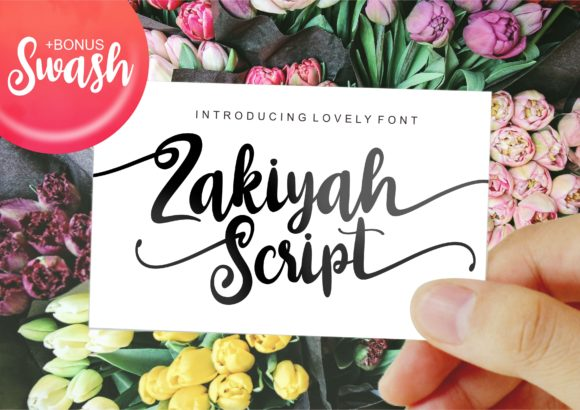 Print on Demand: Zakiyah Script & Handwritten Font By ergibi studio