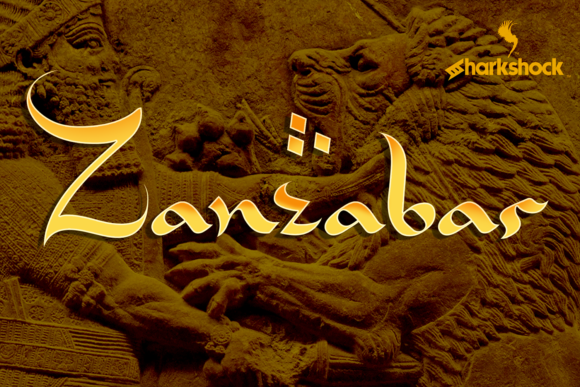 Print on Demand: Zanzabar Script & Handwritten Font By Sharkshock - Image 1