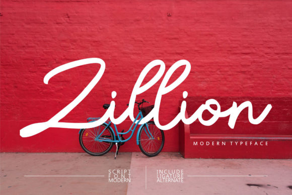 Print on Demand: Zillion Script & Handwritten Font By Vunira