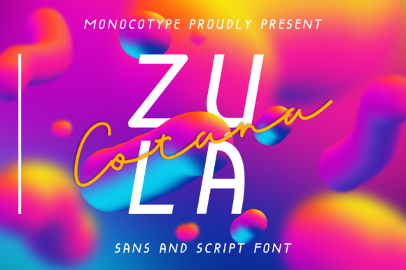 Print on Demand: Zula Cotana Script & Handwritten Font By monocotype