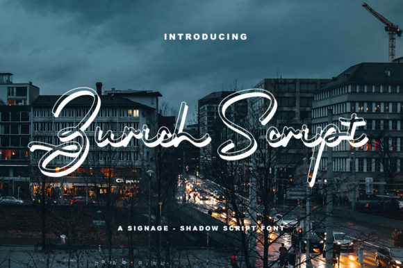 Print on Demand: Zurich Script Script & Handwritten Font By Neelatype Foundry