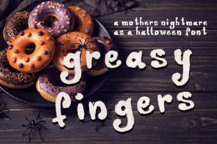 Greasy Fingers Font By lunarctic
