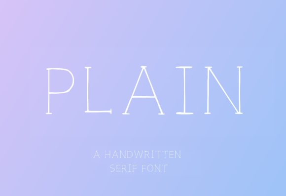 Print on Demand: Plain Capital Serif Font By lunarctic - Image 1