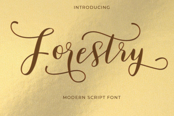 Print on Demand: Forestry Script & Handwritten Font By typehill