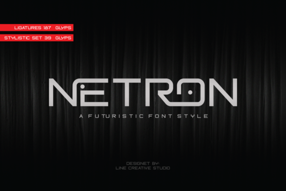 Print on Demand: Netron Display Font By Line creative