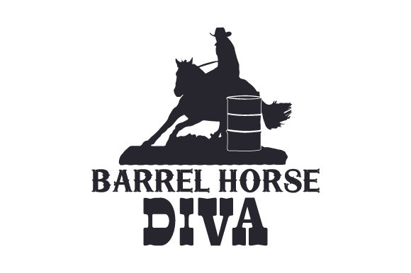 Download Free Barrel Horse Diva Svg Cut File By Creative Fabrica Crafts for Cricut Explore, Silhouette and other cutting machines.