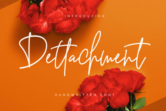 Print on Demand: Dettachment Script & Handwritten Font By CreatypeStudio