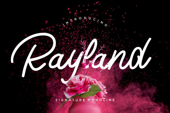 Print on Demand: Rayland Script & Handwritten Font By CreatypeStudio